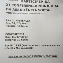 conferencia municipal da assistencia social