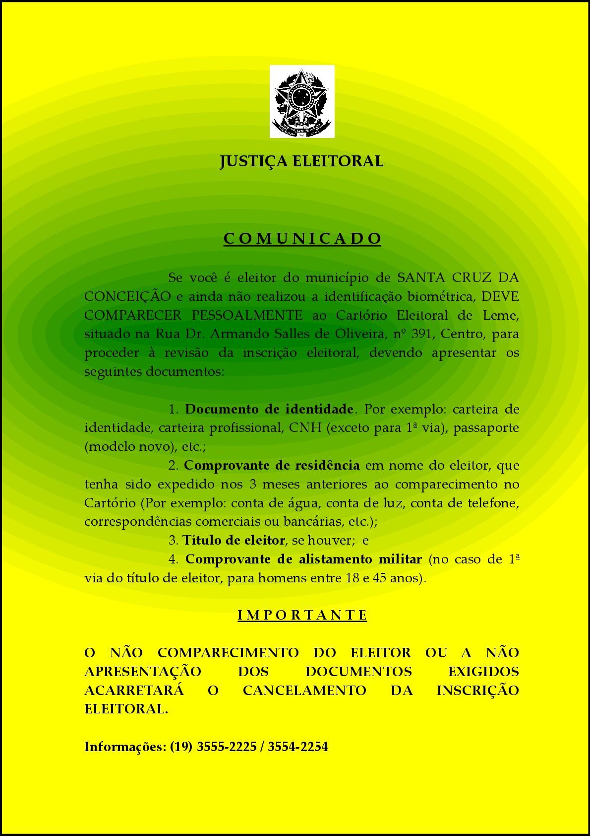 Comunicado Sta Cruz BIOMETRIA-001